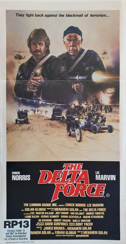 The Delta Force australian daybill poster with Chuck Norris and Lee Marvin (2)