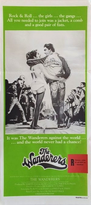 The Wanderers australian daybill poster ultra rare 60's New York gang movie DB1