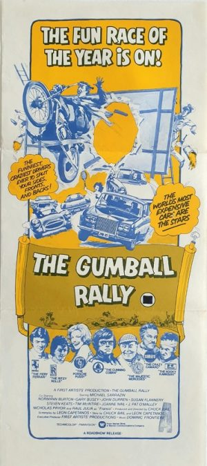 The gumball rally daybill movie poster 1976