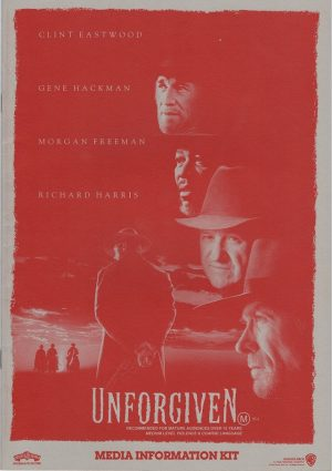Unforgiven with Clint Eastwood Media information booklet 1992