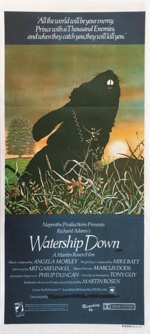 Watership Down australian daybill poster 1978