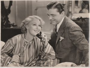 Grace Moore and Lyle Talbot 1935 german still from One Night of Love