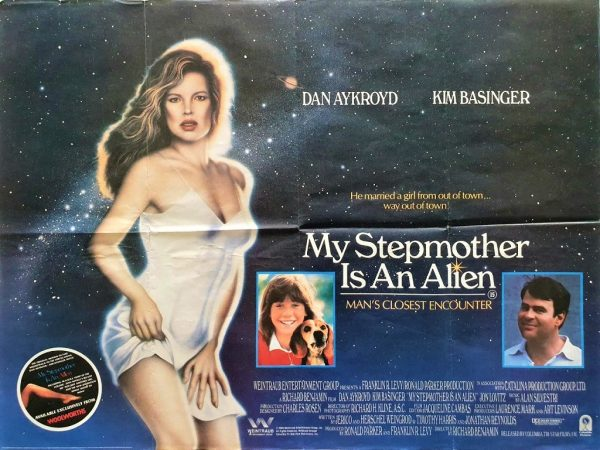 my stepmother is an alien uk quad poster with Dan Aykroyd and Kim Basinger 1988 (2)