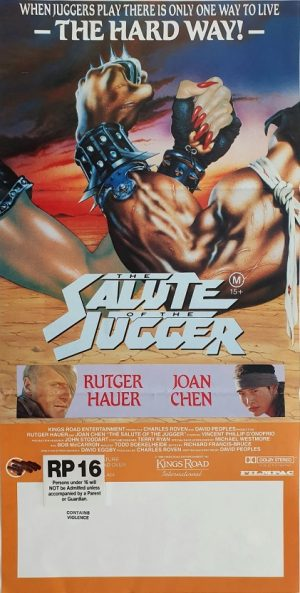 salute of the jugger blood of heroes australian daybill poster 1989 with Rutger Hauer and Joan Chen