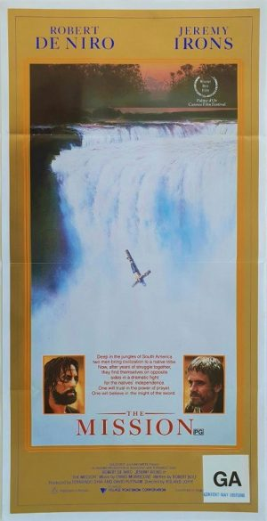 the mission australian daybill poster with Robert De Niro (2)