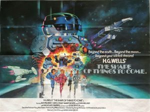 the shape of things to come 1979 uk quad poster by Tom Chantrell