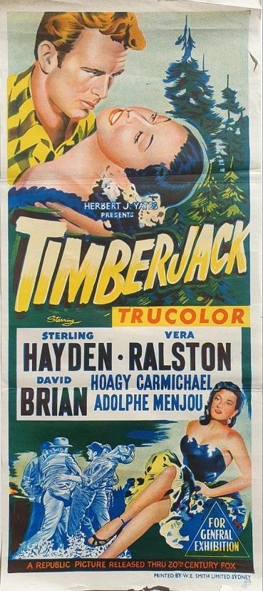 timberjack australian daybill poster forestry logging movie 1955