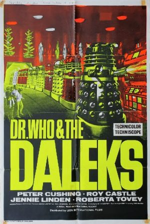 Dr Who And The Daleks 1960's Re-release UK One Sheet poster (1)