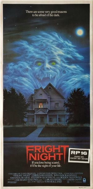 Fright Night Australian daybill poster vampire movie 1985 DB2