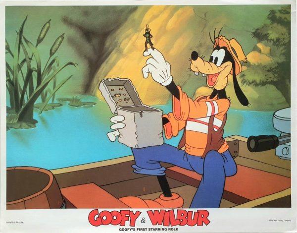 Goofy and Wilbur 1939 Walt Disney 1990's re-release US Lobby Card