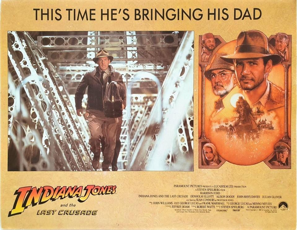 Indiana Jones and the last crusade US Lobby Card 1989