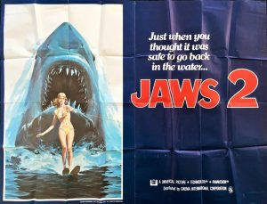 Jaws 2 US Subway 2 sheet 1978