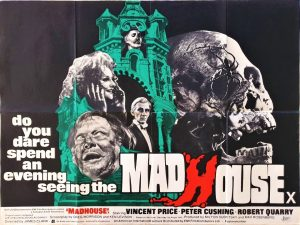 Madhouse UK Quad poster with Vincent Price and Peter Cushing 1974