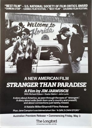 Stranger than paradise Australian Flyer by Jim Jarmusch 1984