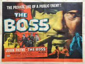 The Boss UK Quad poster with John Payne 1956 (19)
