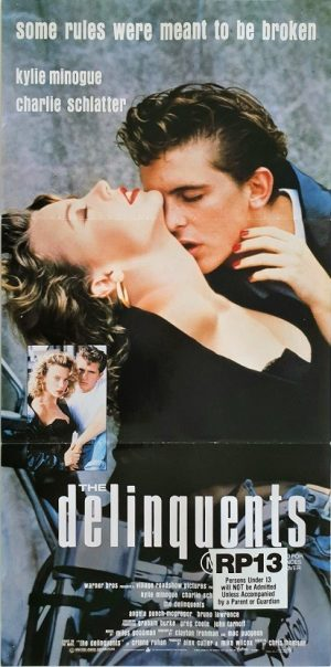 The Delinquents Australian daybill poster with Kylie Minogue 1989