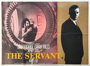 The Servant UK Quad poster 1963 with Dirk Bogarde, Sarah Miles and Wendy Craig (1)