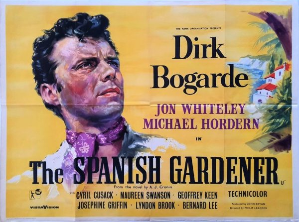 The Spanish Gardener UK Quad poster 1956 with Dirk Bogarde, Jon Whiteley and Michael Hordern 1956