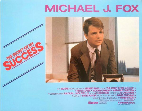 The secret of my success Michael J Fox US Lobby Card Set (8 cards) 1987