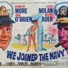 We Joined the Navy UK Quad poster 1962 with Kenneth More, Lloyd Nolan and Joan O'Brien artwork by Tom Chantrell (14)