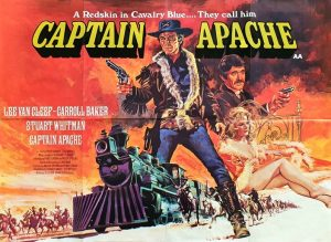 captain apache UK quad poster with artwork by Tom Chantrell 1971 staring Lee Van Cleef