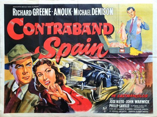 contraband spain UK quad poster 1955