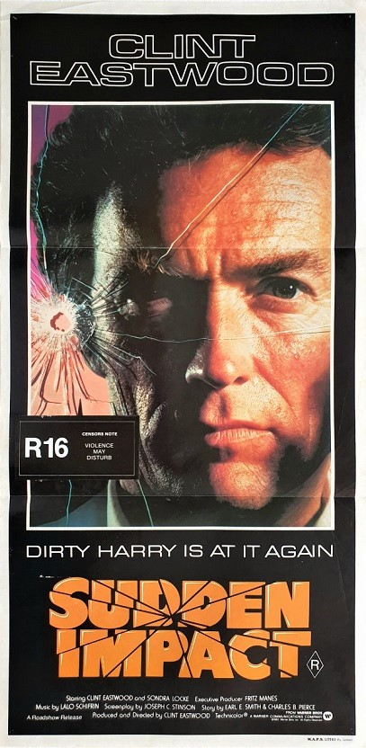 sudden impact australian daybill poster with clint eastwood as dirty harry (3)