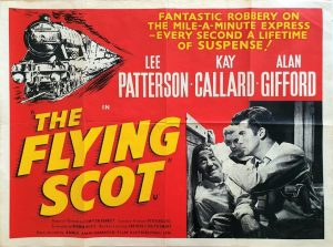 the flying scot UK quad poster 1957 featuring the Flying Scotsman train