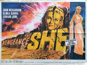 the vengeance of she UK quad poster 1968 hammer productions