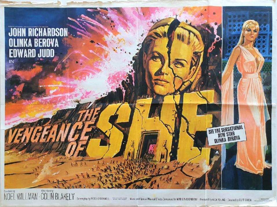 the vengeance of she UK quad poster 1968 hammer productions