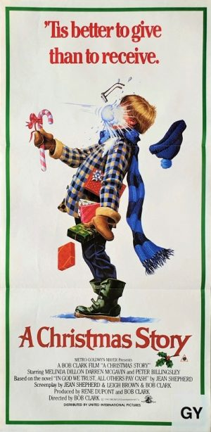 A Christmas Story 1983 Australian Daybill poster with a New Zealand rating snipe