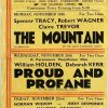 1956 UK Playbill for the Prince of Wales cinema Hollywell with The Mountain with Spencer Tracy, Proud and Profane with William Holden and Up In The World with Norman Wisdom (3)