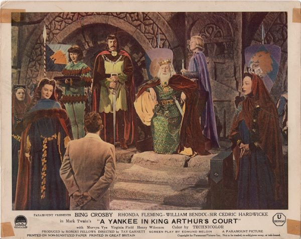 A Connecticut Yankee in King Arthur's Court 1948 UK front of house lobby card with Bing Crosby and Rhonda Fleming