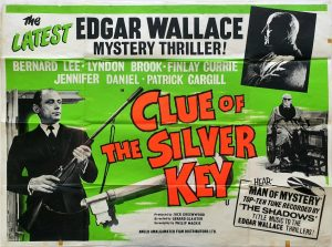 Clue of the silver key UK Quad Poster Edgar Wallace mystery thriller! 1961