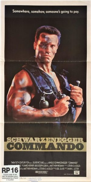 Commando australian daybill movie poster with Arnold Schwarzenegger (2)