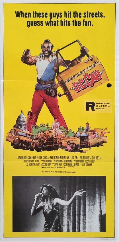 D.C Cab australian daybill movie poster with Mr T (2)