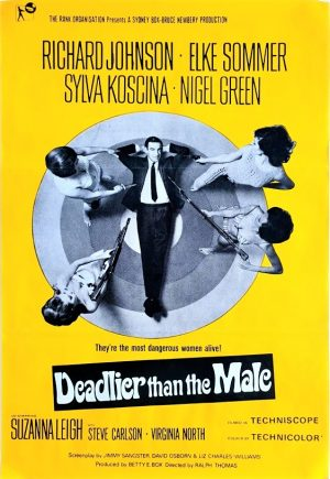 Deadlier than the male UK one sheet poster (4)