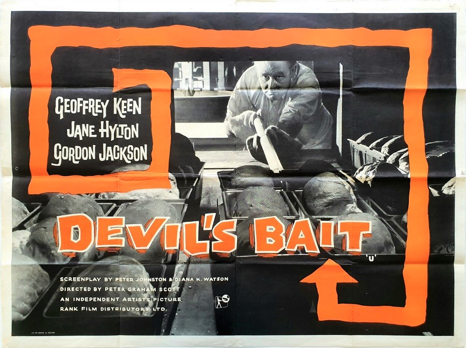 Devil's Bait UK Quad Poster (31) baker who accidentally poisons a loaf of bread 1959
