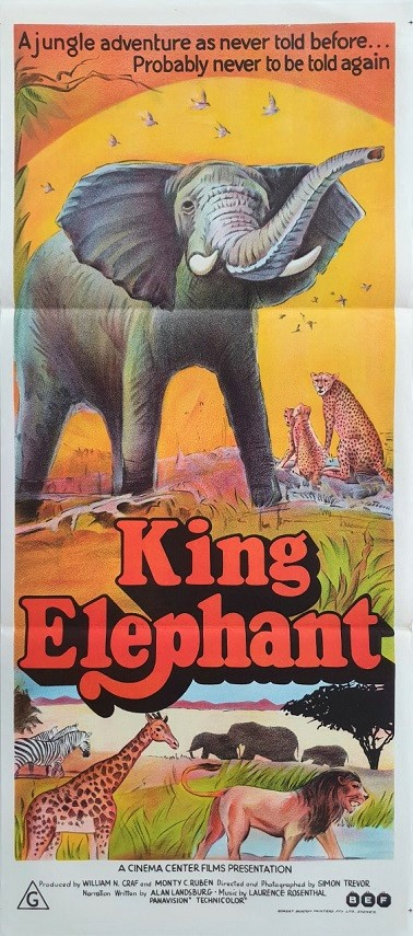 King Elephant australian daybill movie poster (2)