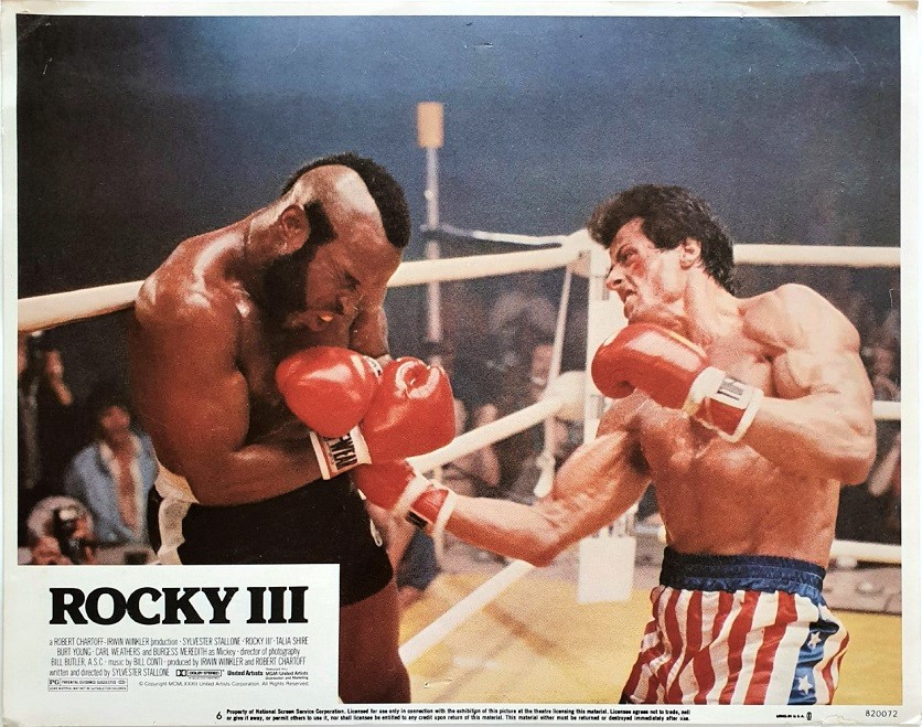 Rocky 3 US Lobby Card 1982 with Sylvester Mr T and Carl Weathers (12)