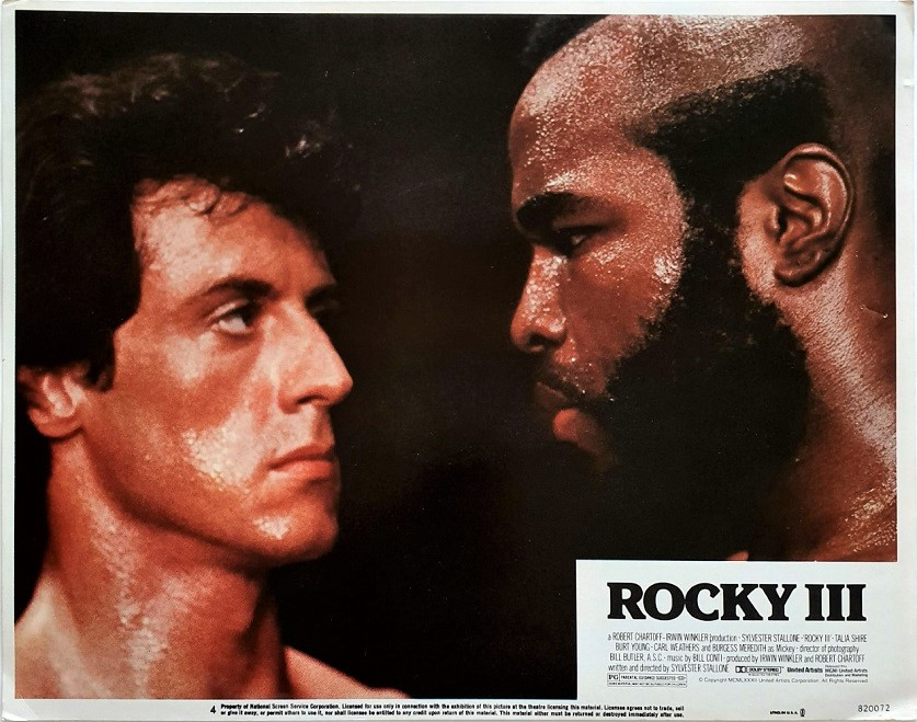 Rocky 3 US Lobby Card 1982 with Sylvester Mr T and Carl Weathers (8)