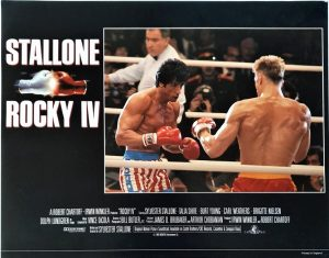 Rocky 4 UK Lobby Card 1985 with Sylvester Stallone, Brigitte Nielsen, Dolph Lundgren and Carl Weathers (3)