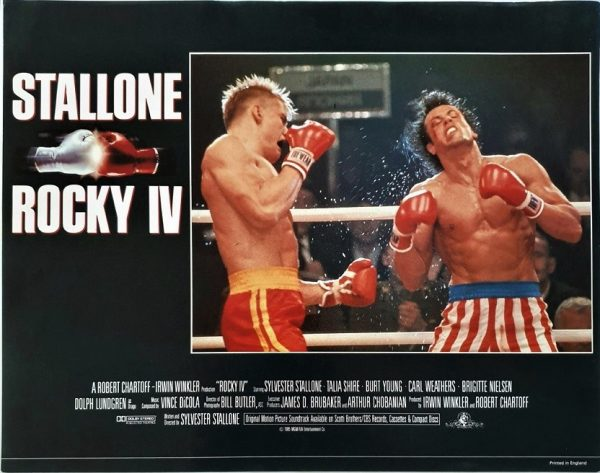 Rocky 4 UK Lobby Card 1985 with Sylvester Stallone, Brigitte Nielsen, Dolph Lundgren and Carl Weathers (4)