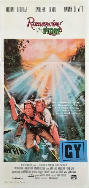 Romancing the stone australian daybill movie poster with michael douglas (2)