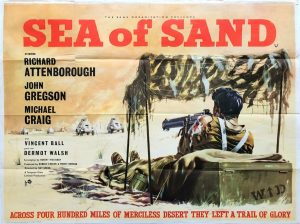 Sea Of Sand Uk Quad Poster with Richard Attenborough and John Gregson LRDG WW2 film 1958