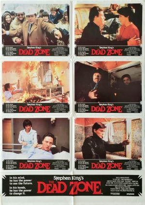 The Dead Zone 1983 Australian Lobby Card One Sheet movie poster written by stephen king