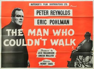 The Man Who Couldn't Walk UK Quad Poster with Peter Reynolds and Eric Pohlmann 1960