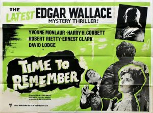 Time To Remember UK Quad Poster Edgar Wallace mystery thriller 1962