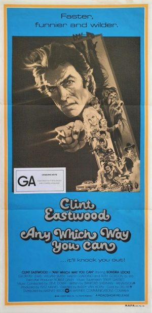 any which way you can australian daybill movie poster with Clint Eastwood (2)