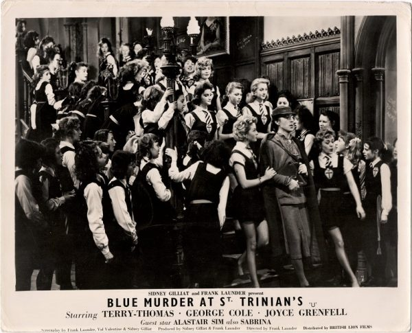 blue murder at St Trinian's english UK front of house cards stills staring Terry-Thomas, George Cole, Joyce Grenfell and Alastair Sim 1957 (4)